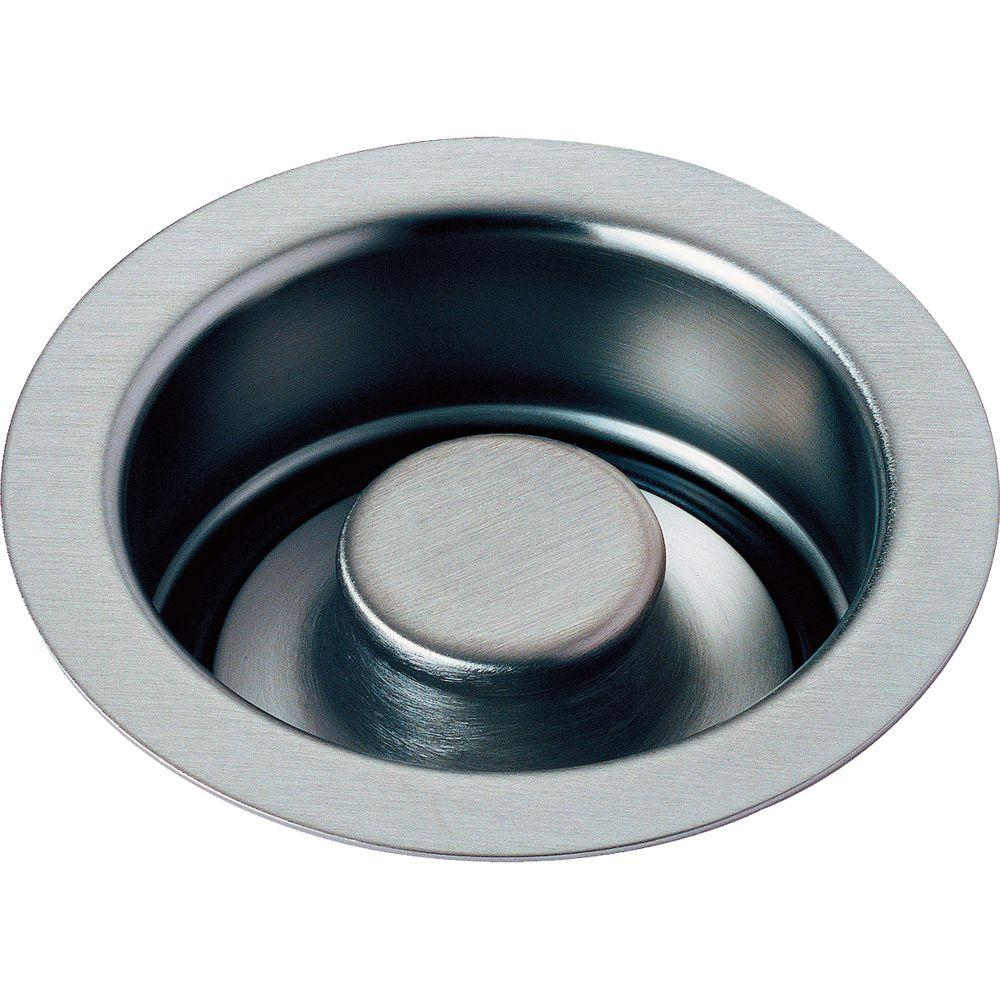 delta 4-1/2 in. kitchen sink disposal and flange stopper in arctic
