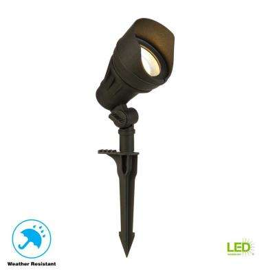 Low-Voltage 100-Watt Equivalent Black Outdoor Integrated LED Landscape Flood Light