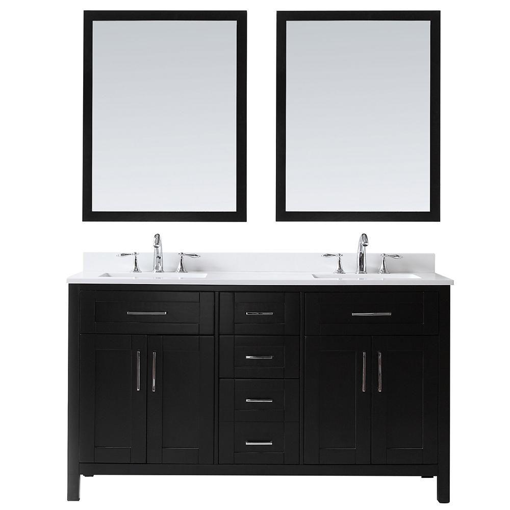 This Review Is From Ove Tahoe 60 In W X 21 D Vanity Espresso With Quartz Top White Basin And Mirrors