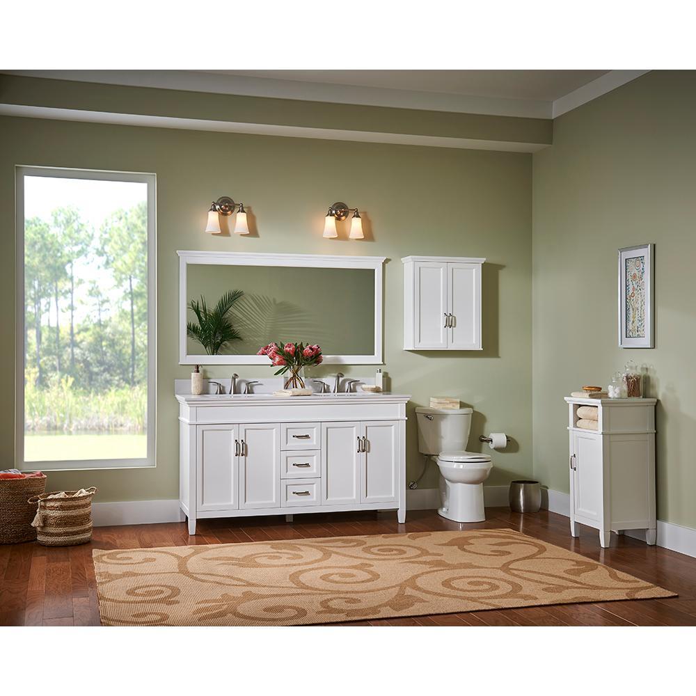 Ashburn 60 in. W x 21.75 in. D Vanity Cabinet in White