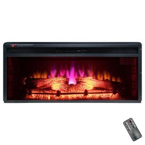 Click here to buy AKDY 36 inch Freestanding Electric Fireplace Insert Heater in Black with Tempered Glass... by AKDY.