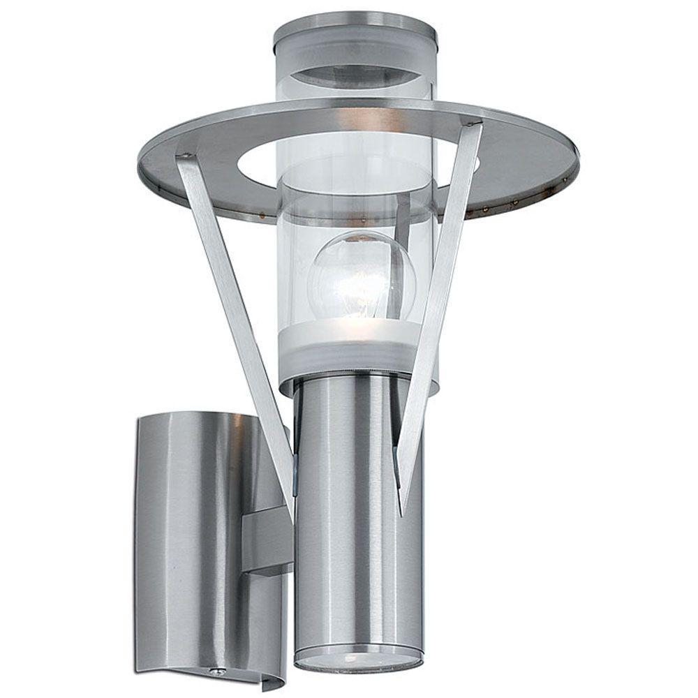 Eglo Belfast 2 Light Stainless Steel Outdoor Wall Lantern Sconce