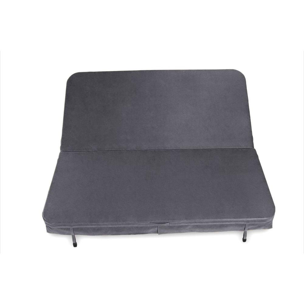 Core Covers 82 in. x 82 in. x 4 in. Sunbrella Spa Cover in Canvas Charcoal