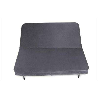 82 in. x 82 in. x 4 in. Sunbrella Spa Cover in Canvas Charcoal
