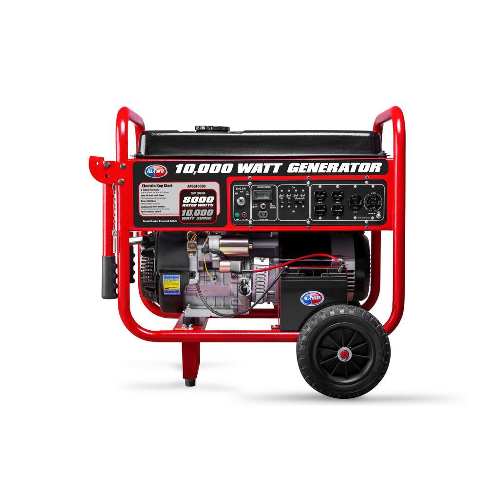 All Power 8,000-Watt Gasoline Powered Electric Start Portable - Sale: $744.39 USD