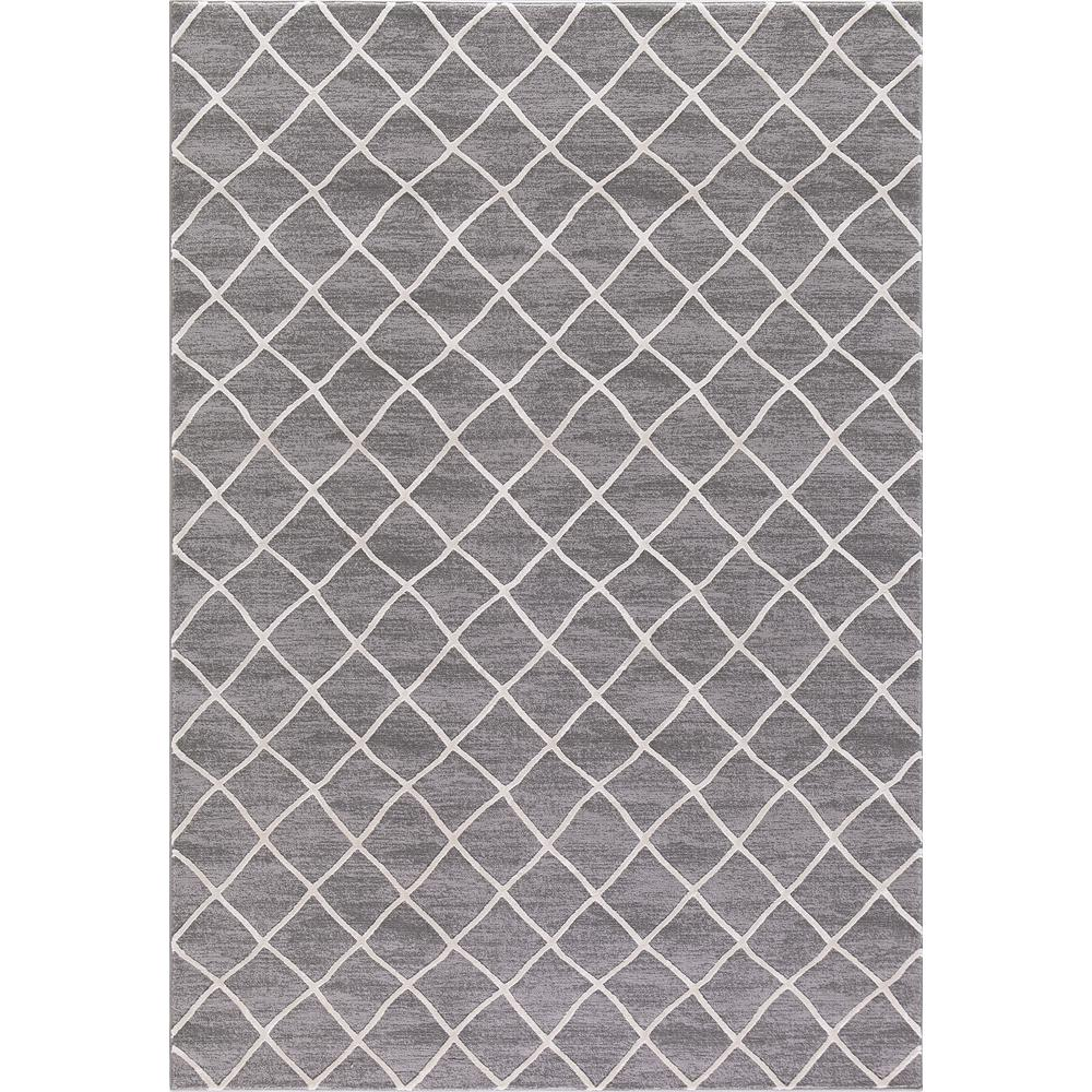 Prestige Ivory Gray 5 Ft X 7 Area Rug