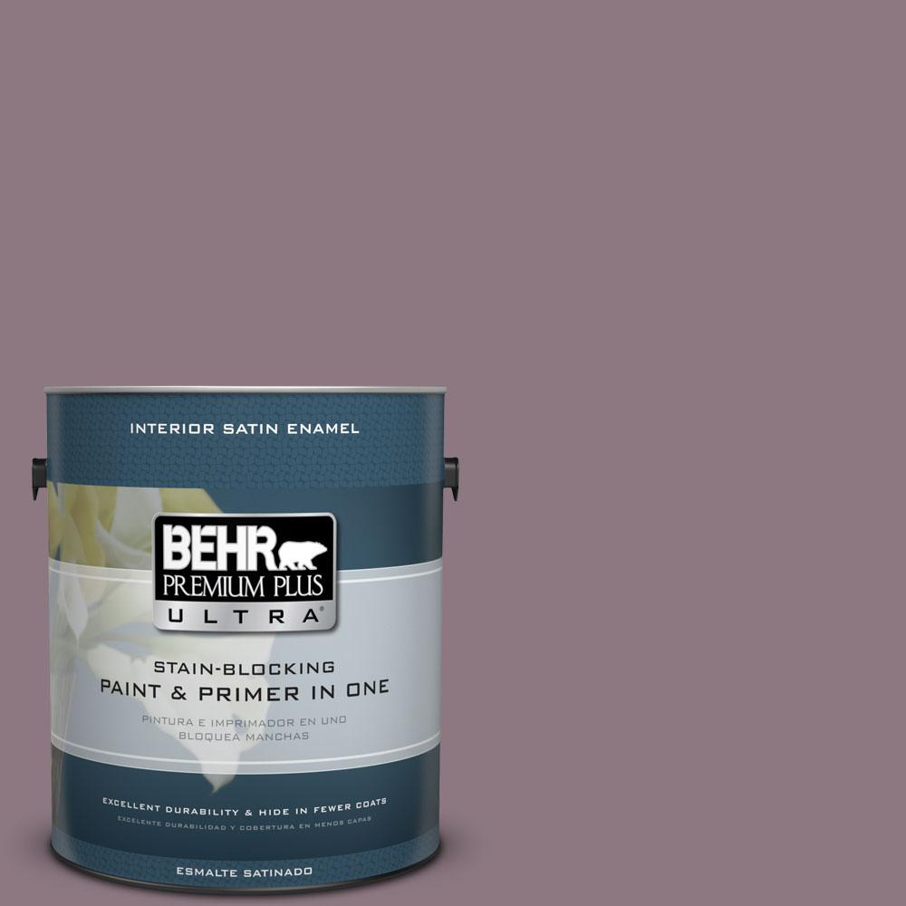 BEHR Premium Plus Ultra 1-gal. #BNC-20 Purple Rubiate Satin Enamel Interior Paint