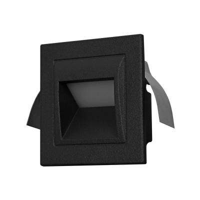 3-Watt Black Outdoor Integrated LED Step Landscape Path Light