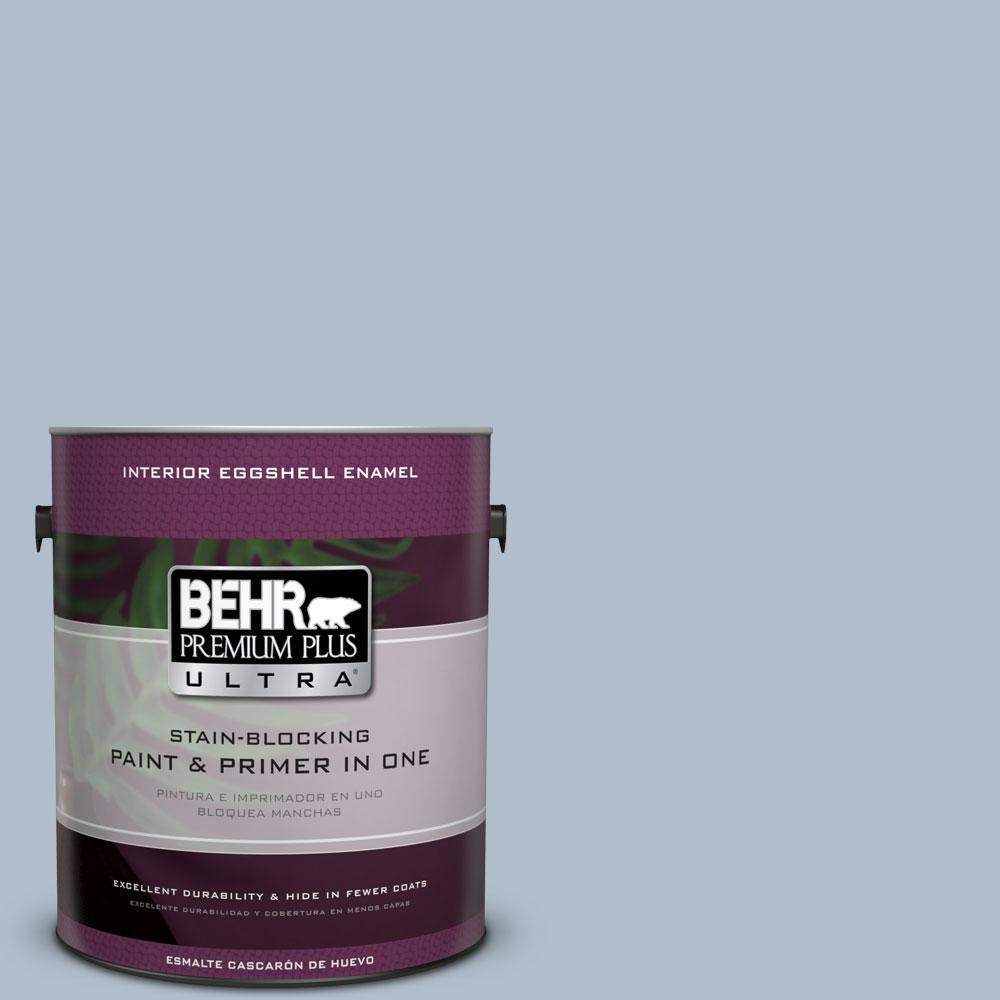1 gal. #570E-3 Liberty Gray Eggshell Enamel Interior Paint and Primer
