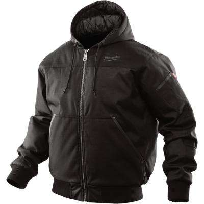 Men's Large Black Hooded Jacket