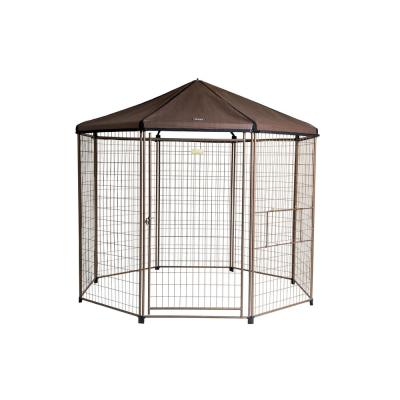 8 ft. Low Profile Outdoor Pet Gazebo Dog Kennel