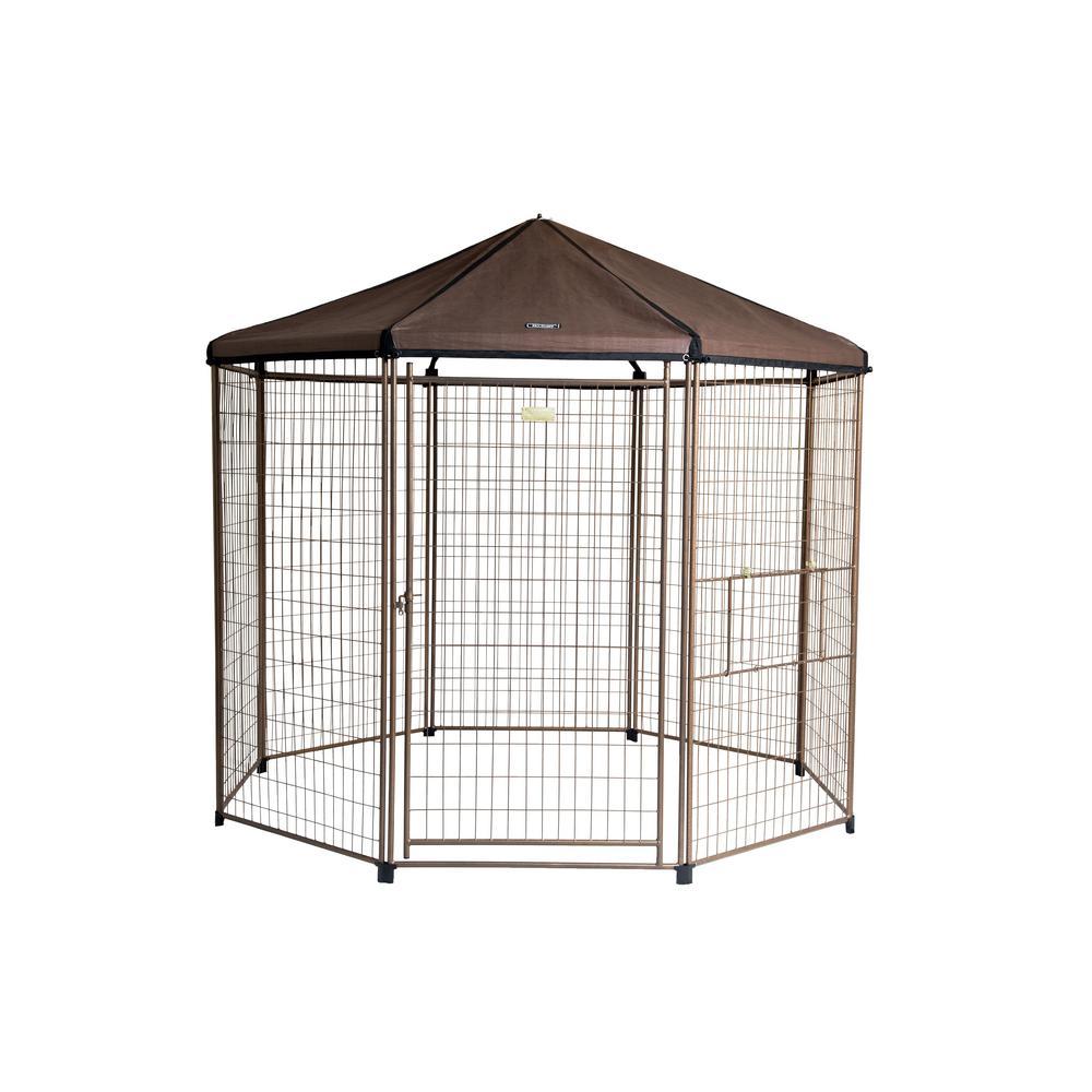 8 ft. Low Profile Outdoor Pet Gazebo Dog Kennel