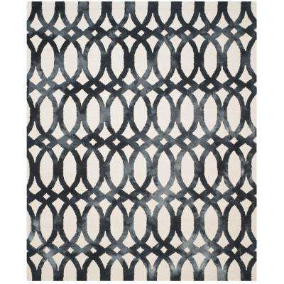 Dip Dye Ivory/Graphite 8 ft. x 10 ft. Area Rug