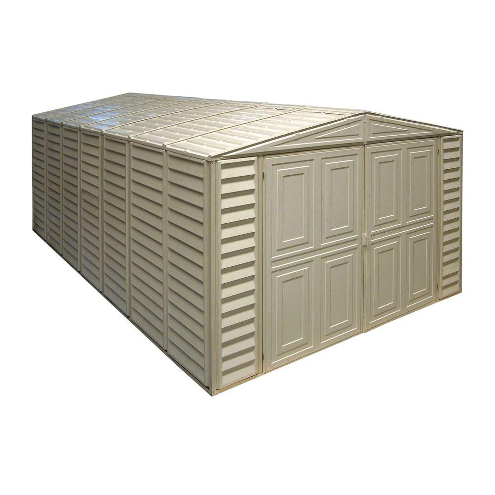 Duramax Building Products 10 ft. x 18 ft. Vinyl Garage with Foundation and Window