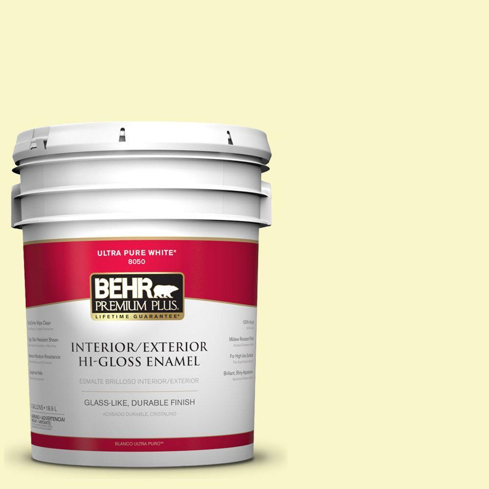 BEHR Premium Plus 5-gal. #PPL-20 Dancing Butterfly Hi-Gloss Enamel Interior/Exterior Paint