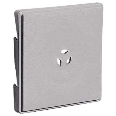6.625 in. x 6.625 in. #016 Gray Triple 3 Surface Mounting Block