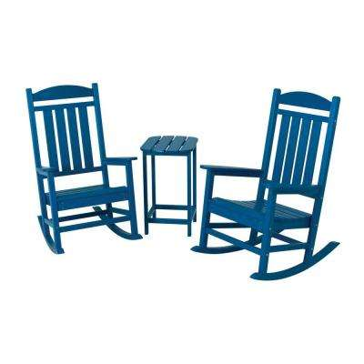 Presidential Pacific Blue 3-Piece Patio Rocker Set