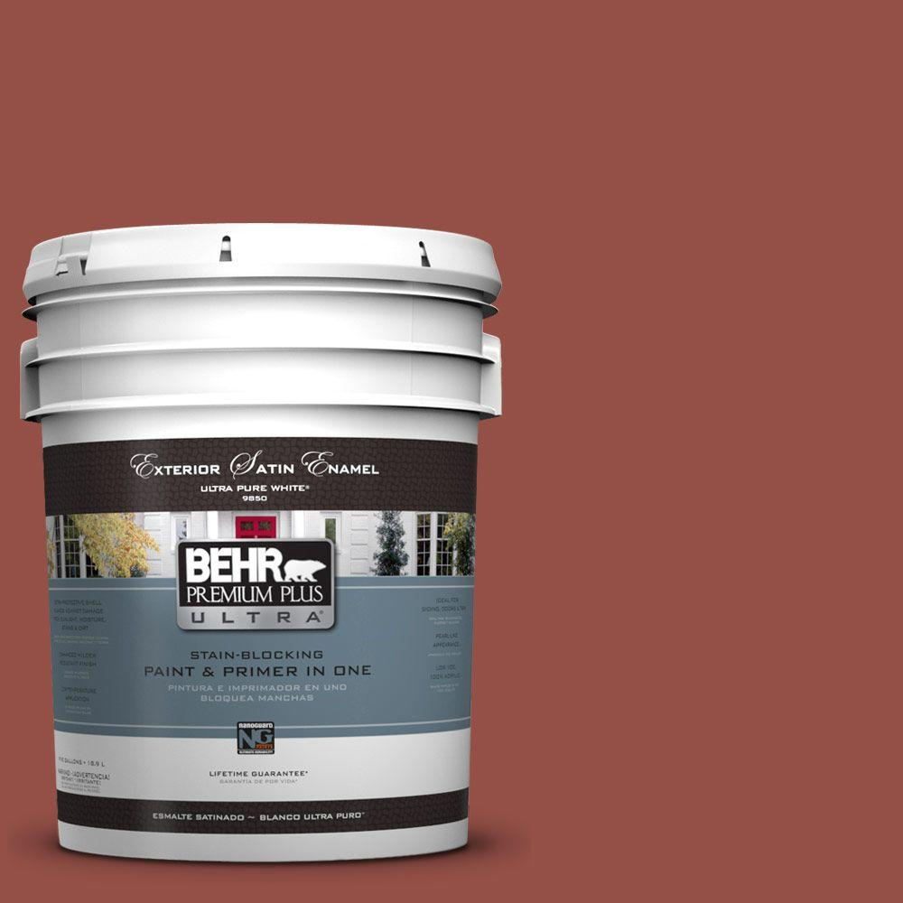 BEHR Premium Plus Ultra 5-gal. #UL120-21 Powdered Brick Satin Enamel Exterior Paint