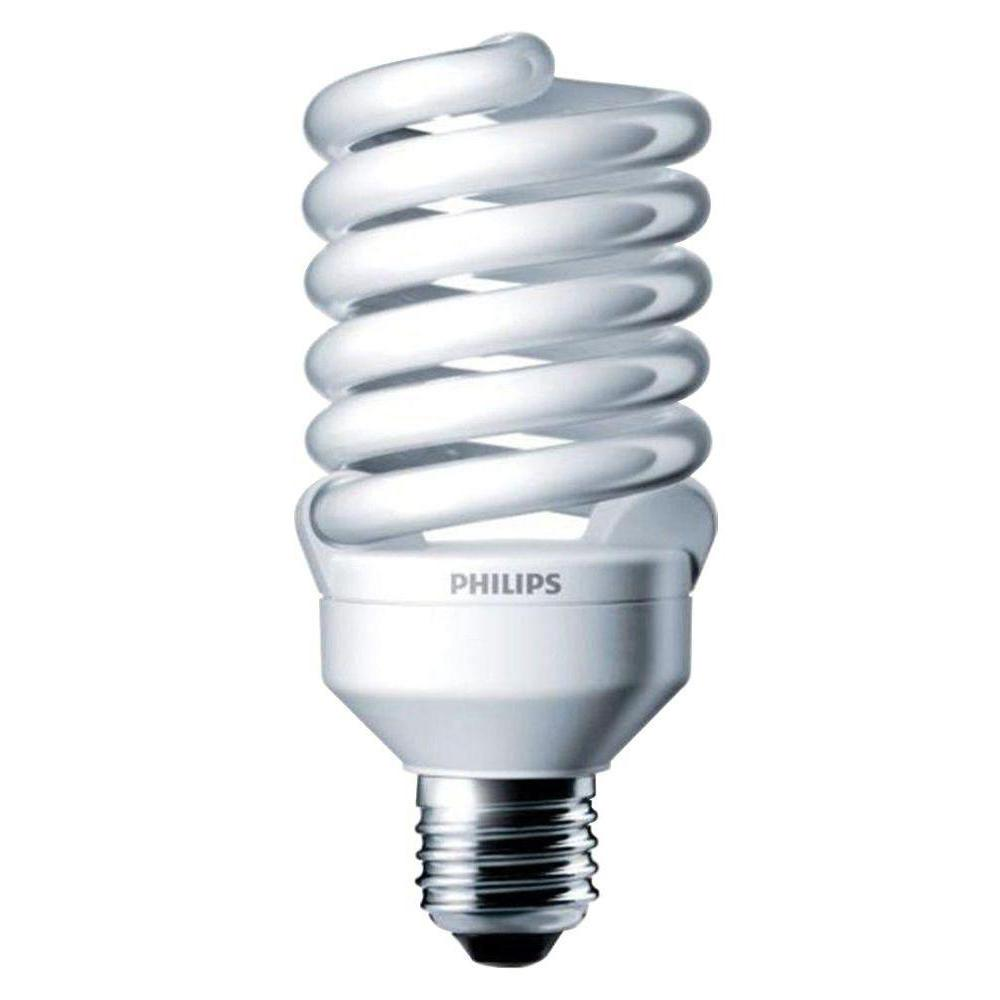 Philips 100w Equivalent Soft White 2700k T2 Spiral Cfl Light Bulb 6 Pack 414011 The Home Depot