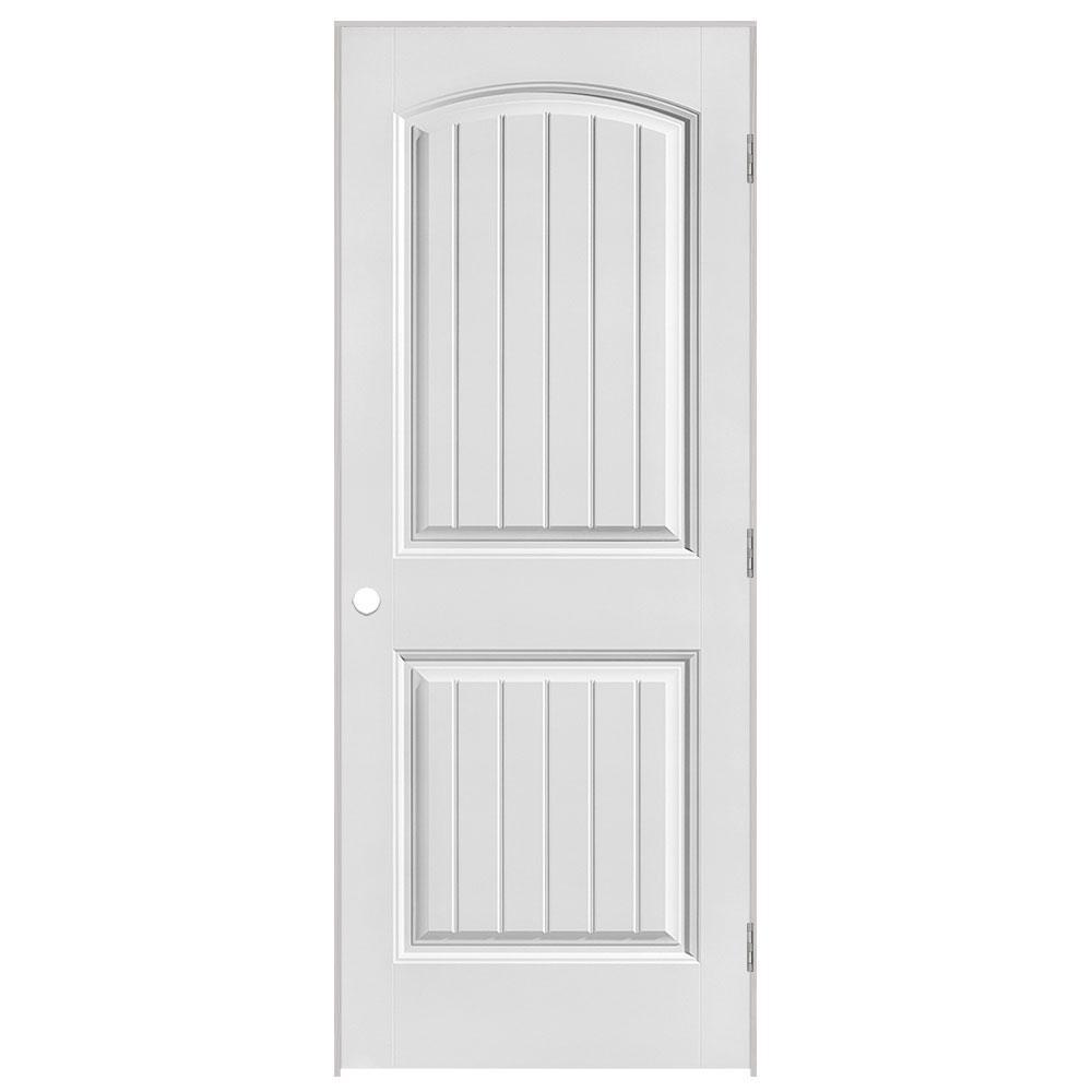 36 in. x 80 in. Solidoor Cheyenne 2-Panel Solid-Core Smooth Primed Composite Single Prehung Interior Door