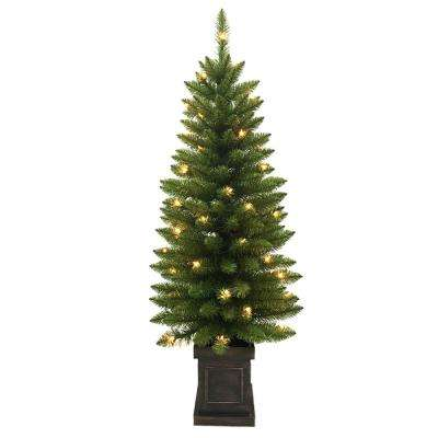 pre lit douglas artificial christmas porch tree with 50 clear lights