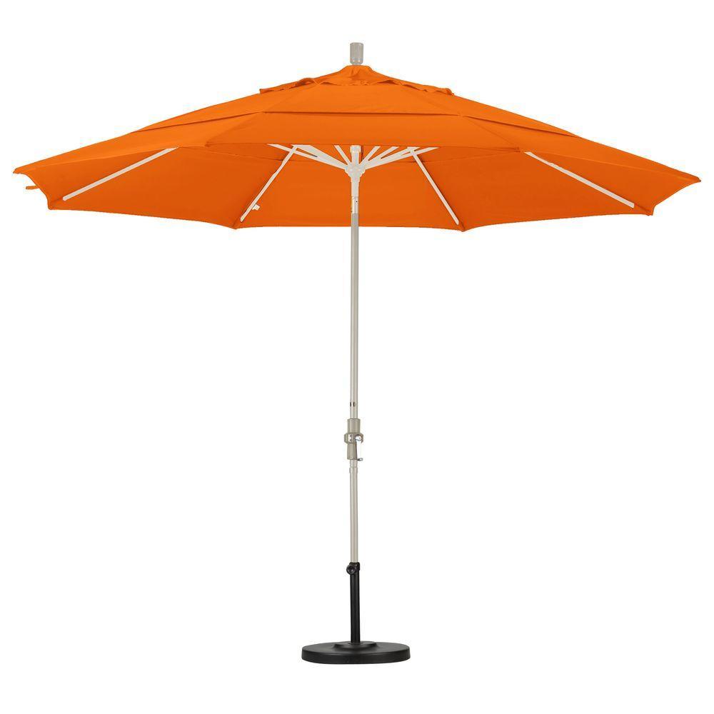Aluminum Collar Tilt Double Vented Patio Umbrella In Tuscan Pacifica