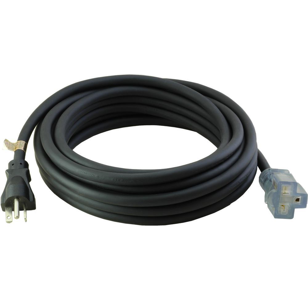 AC WORKS 25 ft. 12/3 SJTW 20 Amp NEMA 5-20 Indoor/Outdoor Lighted ...