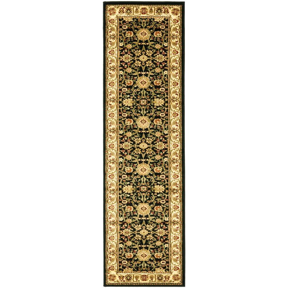 Safavieh Lyndhurst Black Ivory 2 Ft X 6 Runner Rug