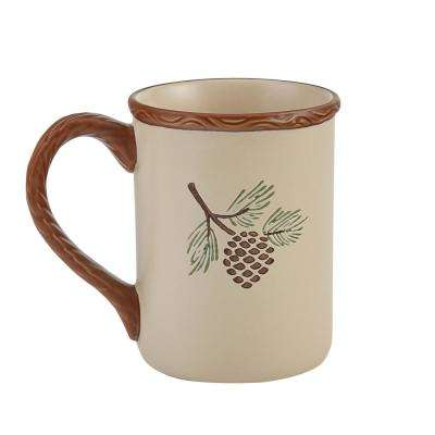 Pinecroft 12 oz. Tan Ceramic Coffee Mug (Set of 4)