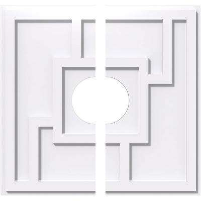 12 in. OD x 3 in. ID x 1 in. P Knox Architectural Grade PVC Contemporary Ceiling Medallion (2-Piece)