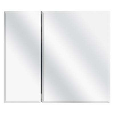 30 in. W x 26 in. H Frameless Recessed or Surface-Mount Bi-View Bathroom Medicine Cabinet
