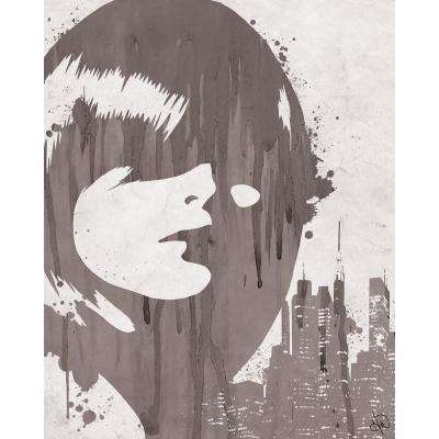"16 in. x 20 in. ""Drippy City Girl Grey"" Acrylic Print Wall Art"