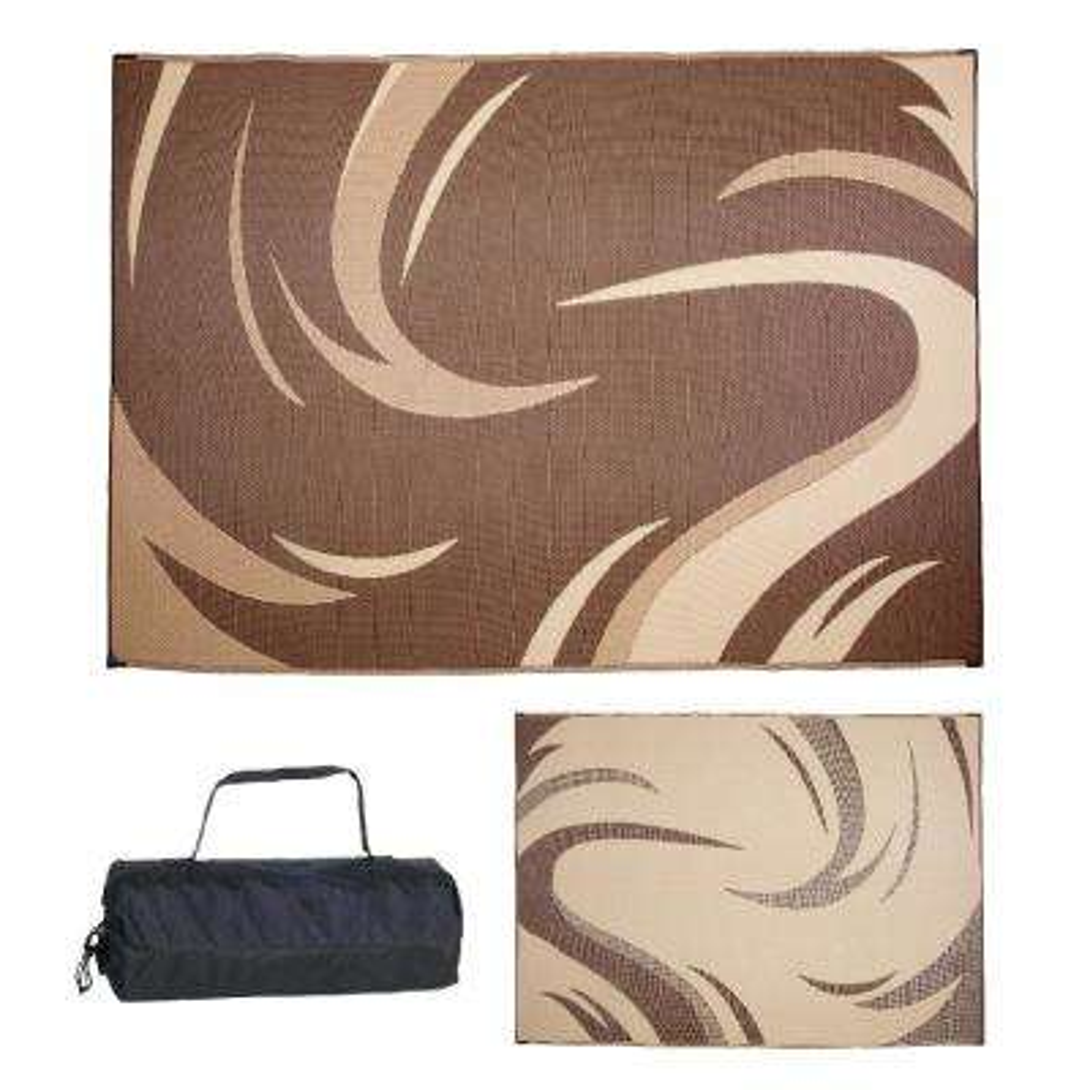 8 ft. x 11 ft. Swish Brown/Tan Reversible Mat