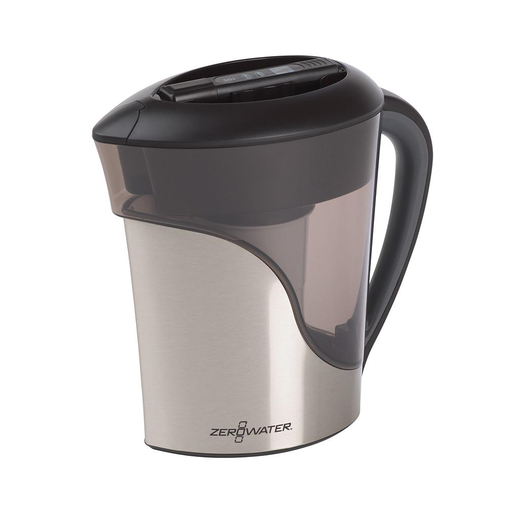 8-Cup Stainless Steel Water Filter Pitcher
