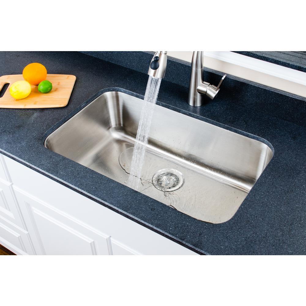 Wells The Craftsmen Series Undermount Stainless Steel 29 in. Single Bowl  Kitchen Sink