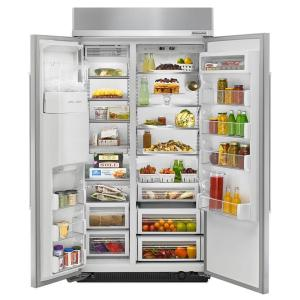 KitchenAid 25.2 cu. ft. Built-In Side by Side Refrigerator in ... on