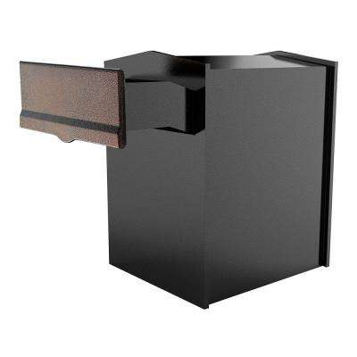 Liberty Antique Copper Wall Mount Locking Mailbox