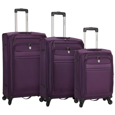 3-Piece Softside Expandable Rolling Vertical Luggage Set with Spinner Wheels (TPRC)