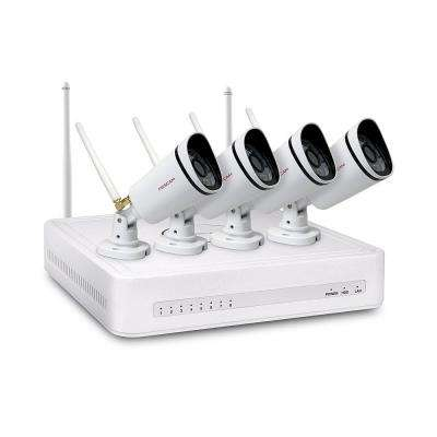 4-Channel 720p 1TB HDD Surveillance System with 4-Wireless Bullet Cameras