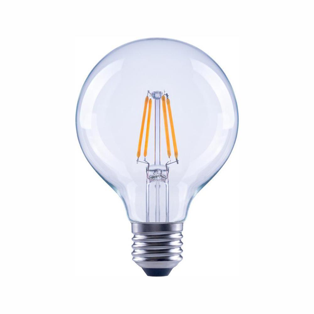 40-Watt Equivalent G25 Globe Dimmable Energy Star Clear Glass Filament Vintage Style LED Light Bulb Soft White (48-Pack)