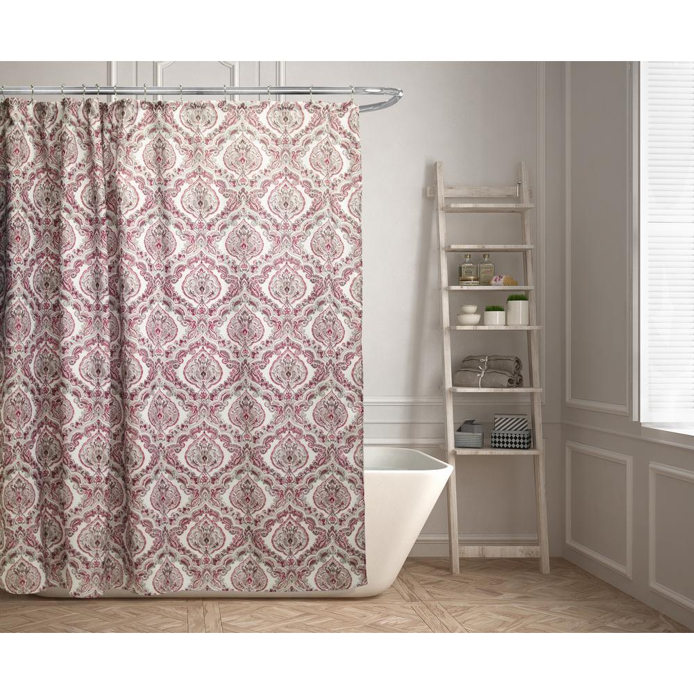 Kashi Home Rose 70 In Medallion Shower Curtain SC056220