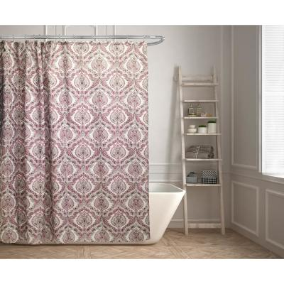 Rose 70 in. Medallion Shower Curtain