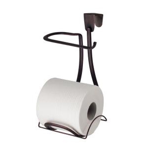 interDesign Axis Over-the-Tank Toilet Paper Holder Plus in Bronze by interDesign