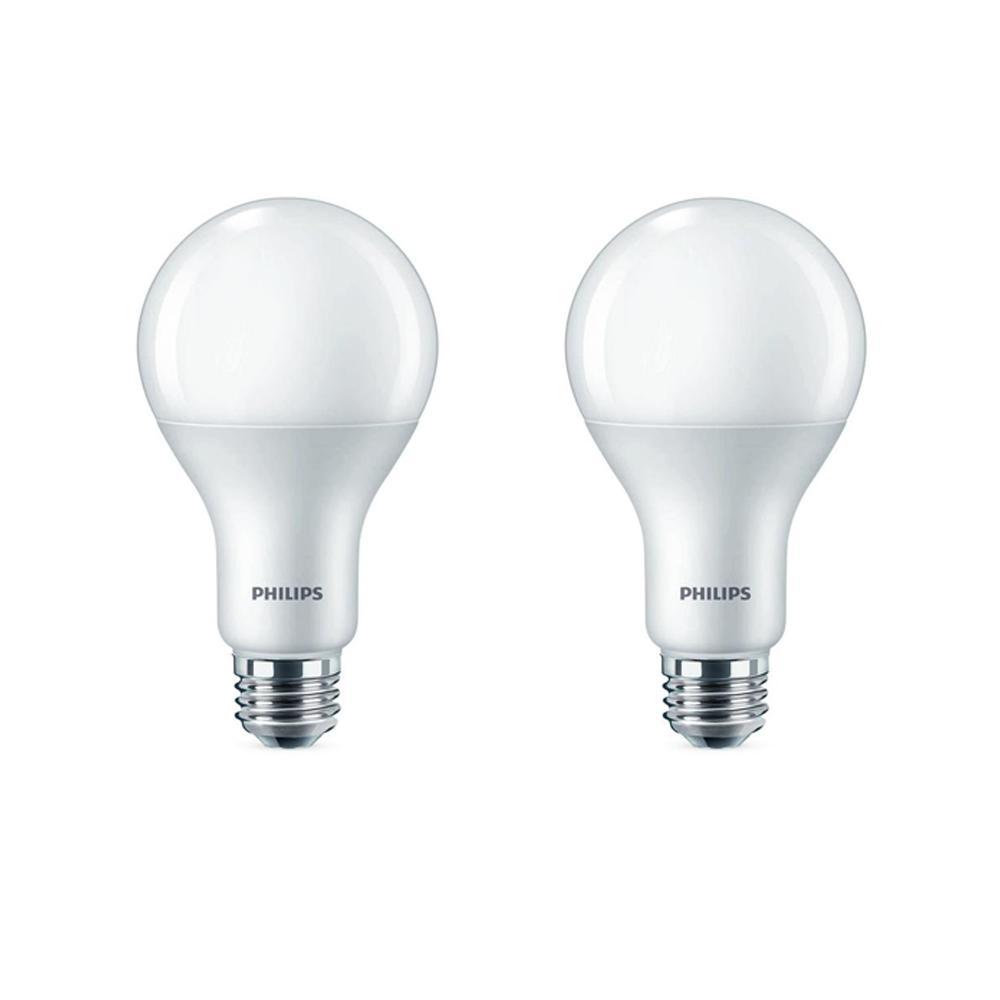 75-Watt Equivalent A21 Dimmable Energy Saving LED Light Bulb Daylight (5000K) (2-Pack)