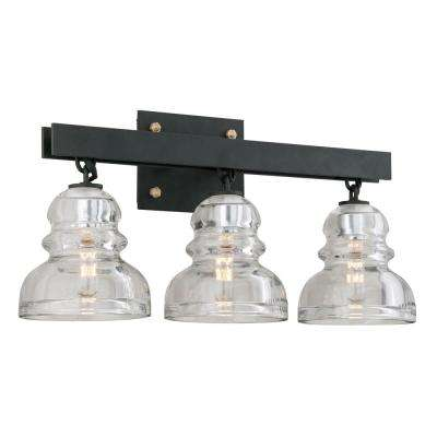 Menlo Park 3-Light Deep Bronze Vanity Light