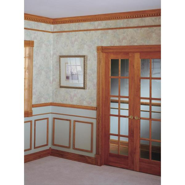 House Of Fara 3 4 In X 3 1 4 In X 7 Ft Hardwood Fluted Casing Chair Rail Moulding 602 The Home Depot