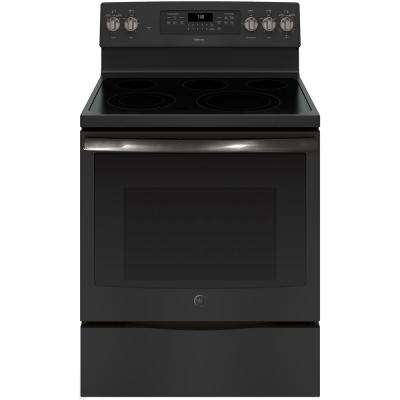 Adora 5.3 cu. ft. Electric Range with Self-Cleaning Convection Oven in Black Slate, Fingerprint Resistant