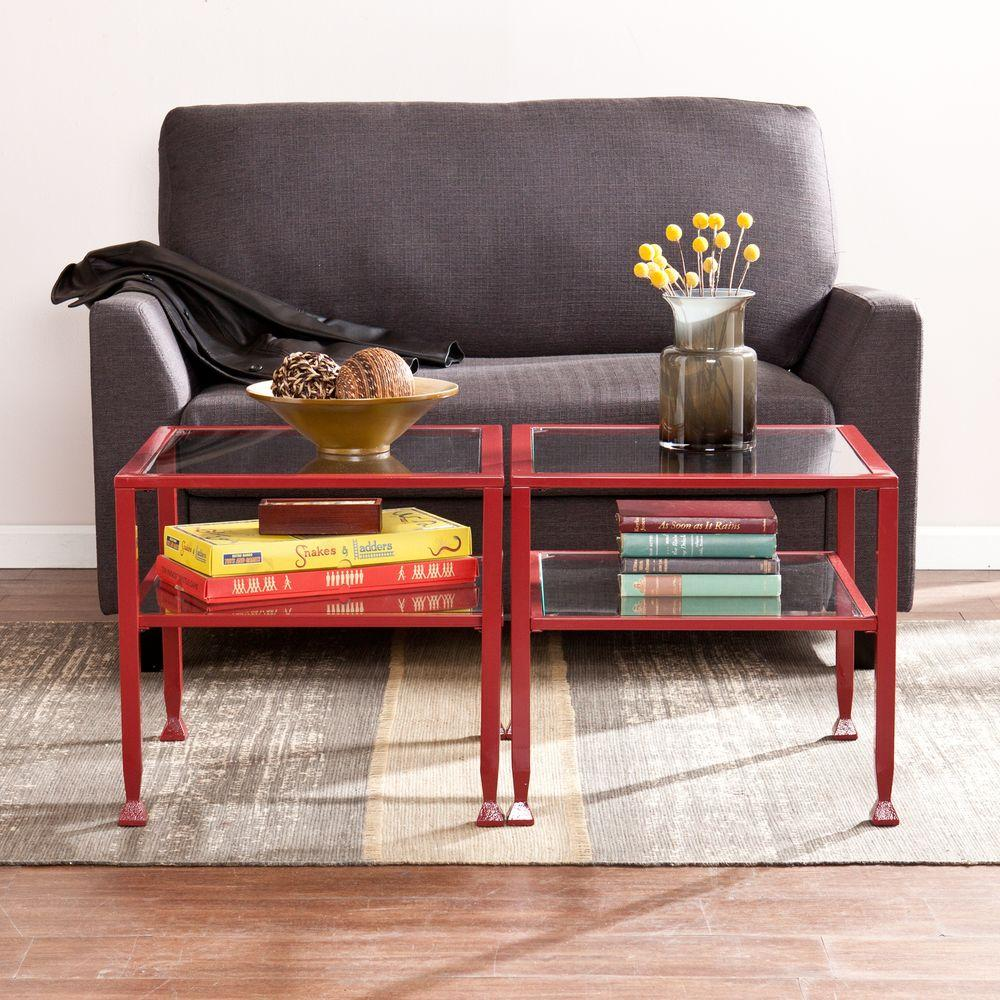 red coffee table southern enterprises coffee table hd864754 the home 11454