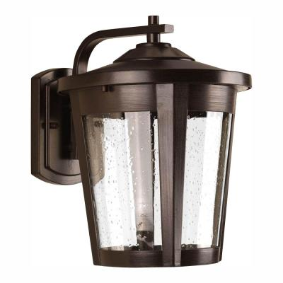 East Haven Collection 1-Light 12 in. Outdoor Antique Bronze LED Wall Lantern Sconce