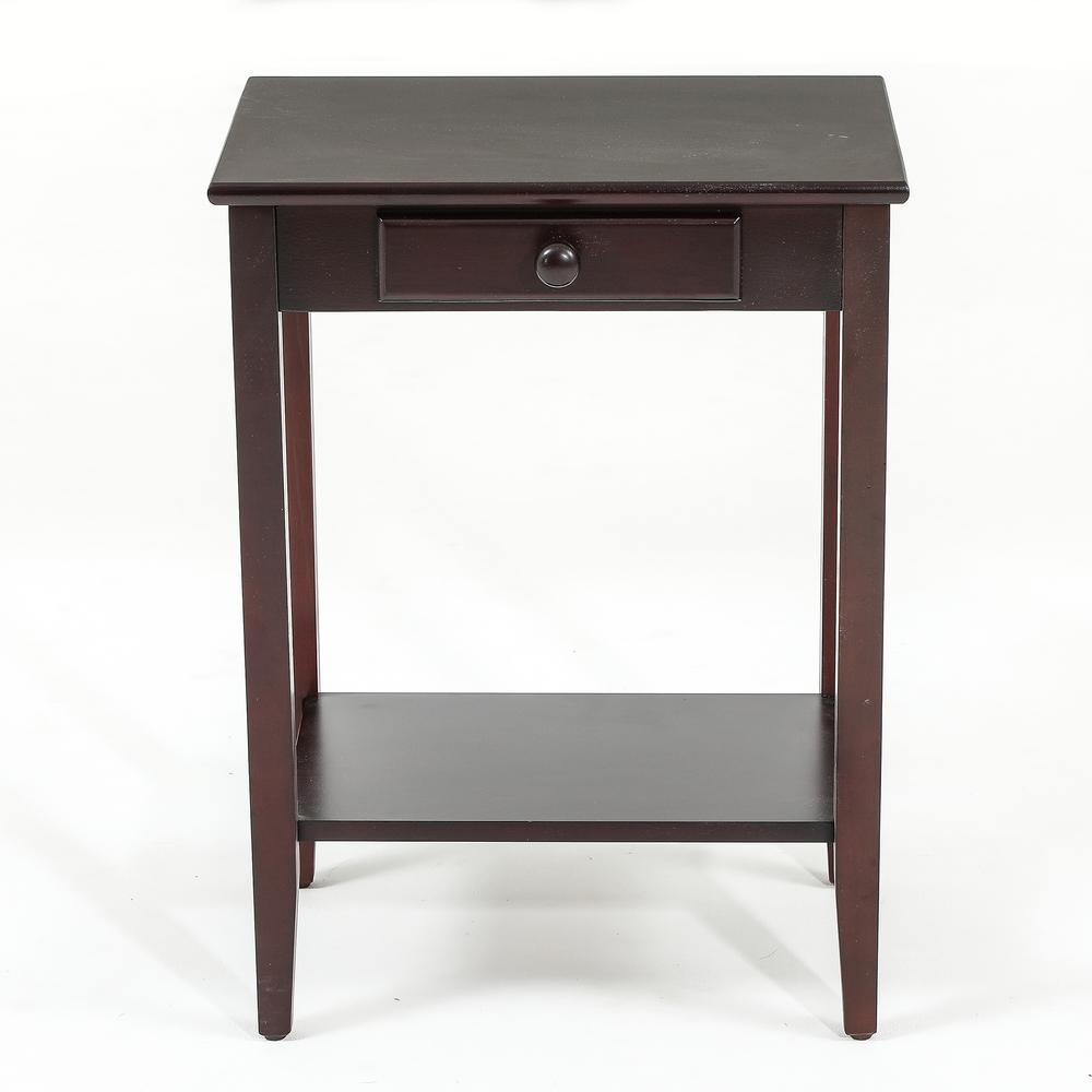 Espresso Single Drawer End Table